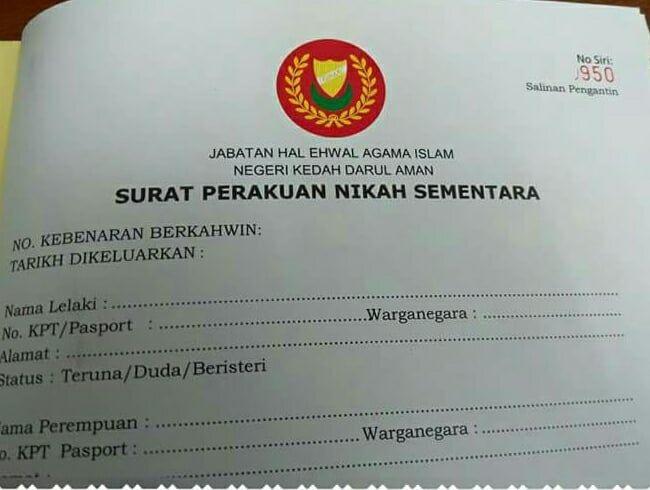 Prosedur Permohonan Nikah Negeri Kedah Tahun 2019 Kad Dansa Blog